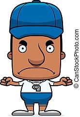 Cartoon Angry Coach Man - A cartoon coach man looking angry.