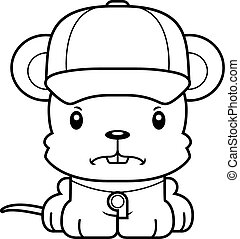 Cartoon Angry Coach Mouse - A cartoon coach mouse looking...