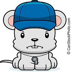 Cartoon Angry Coach Mouse