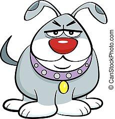 Cartoon angry dog.