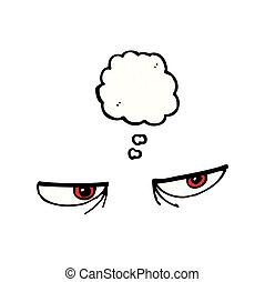 cartoon angry eyes