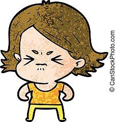 cartoon angry girl