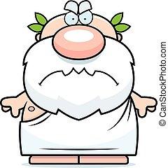 Cartoon Angry Greek