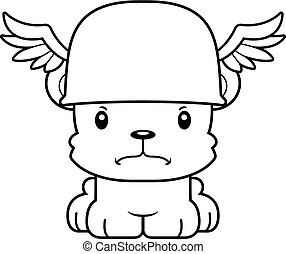 Cartoon Angry Hermes Bear - A cartoon Hermes bear looking...