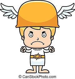 Cartoon Angry Hermes Boy - A cartoon Hermes boy looking...
