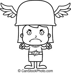 Cartoon Angry Hermes Girl - A cartoon Hermes girl looking...