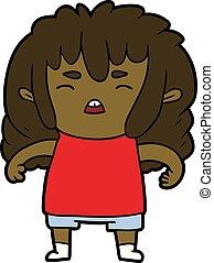 cartoon angry kid