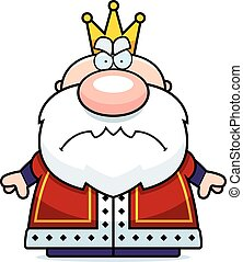 Cartoon Angry King