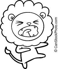 cartoon angry lion