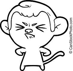 cartoon angry monkey