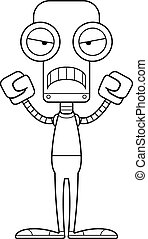 Cartoon Angry Robot