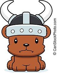 Cartoon Angry Viking Bear