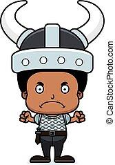Cartoon Angry Viking Boy