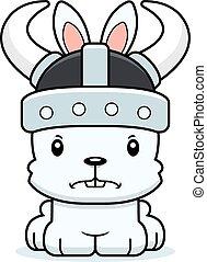 Cartoon Angry Viking Bunny