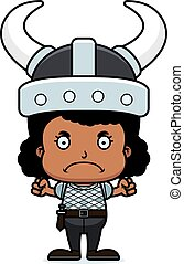 Cartoon Angry Viking Girl