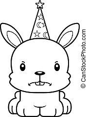 Cartoon Angry Wizard Bunny