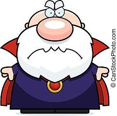 Cartoon Angry Wizard
