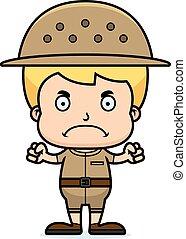 Cartoon Angry Zookeeper Boy - A cartoon zookeeper boy...