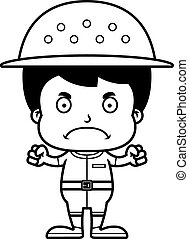 Cartoon Angry Zookeeper Boy - A cartoon zookeeper boy...