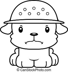 Cartoon Angry Zookeeper Puppy - A cartoon zookeeper puppy...