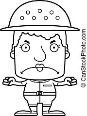 Cartoon Angry Zookeeper Woman - A cartoon zookeeper woman...