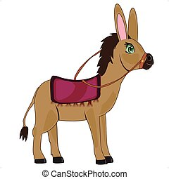 Cartoon animal burro