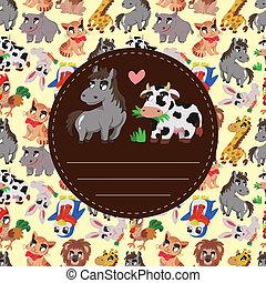 cartoon animal card