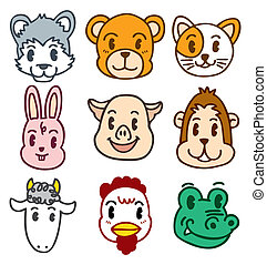 cartoon animal head