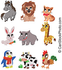 cartoon animal icon