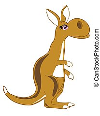 Cartoon animal kangaroo