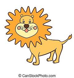 cartoon animal lion1-01