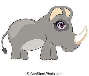 Cartoon animal rhinoceros