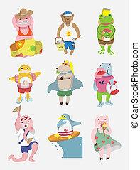 cartoon animal summer