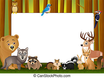 Cartoon animal - vector illustration of animal cartoon