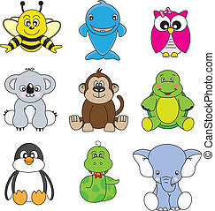 animals - Cartoon animals and pets