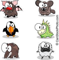 Cartoon animals - Some cartoon animals (bat, toucan, tapir,...