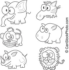 Cartoon animals - The collection of cartoon animals:...