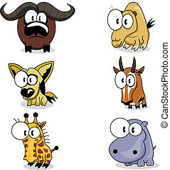 Cartoon animals - Some cartoon animals (buffalo, jackal,...