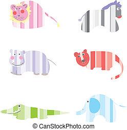 Cartoon Animals vector illustration - Drawing funny animals...