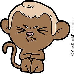 cartoon annoyed monkey