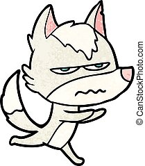 cartoon annoyed wolf