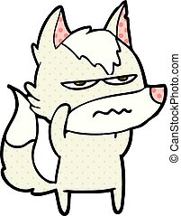 cartoon annoyed wolf