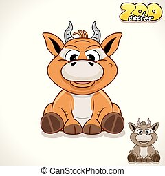 Cartoon Antelope. Vector Character