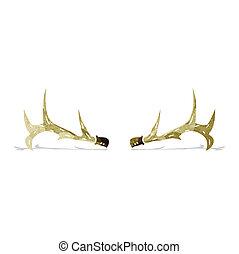 cartoon antlers