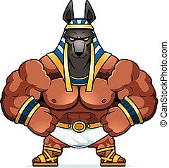 Cartoon Anubis Confident - A cartoon illustration of Anubis...