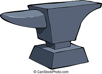 Cartoon anvil - Anvil on a white background vector...