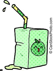 cartoon apple juice box