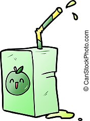 cartoon apple juice box