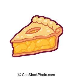 Cartoon apple pie slice - Cute cartoon apple pie drawing. ...