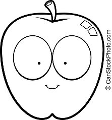 Cartoon Apple Smiling